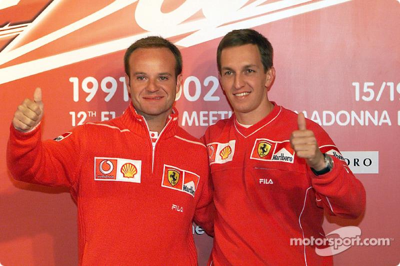 Rubens Barrichello e Luciano Burti