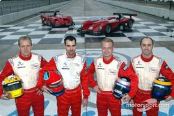 Terry Borcheller, Bryan Herta, Jan Magnussen and David Brabham