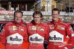Rubens Barrichello, Luca Badoer ve Michael Schumacher