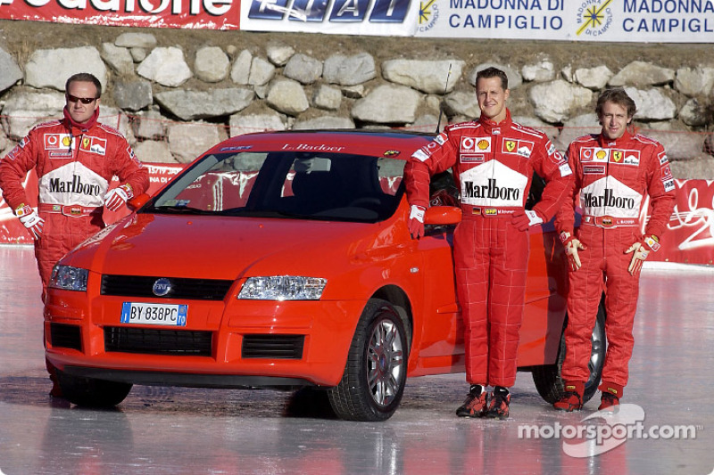 Rubens Barrichello, Michael Schumacher ve Luca Badoer ve Fiat Stilo