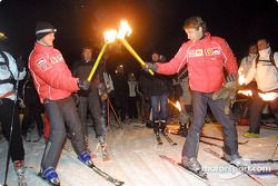 Michael Schumacher ve Luca Badoer torch-light sky run