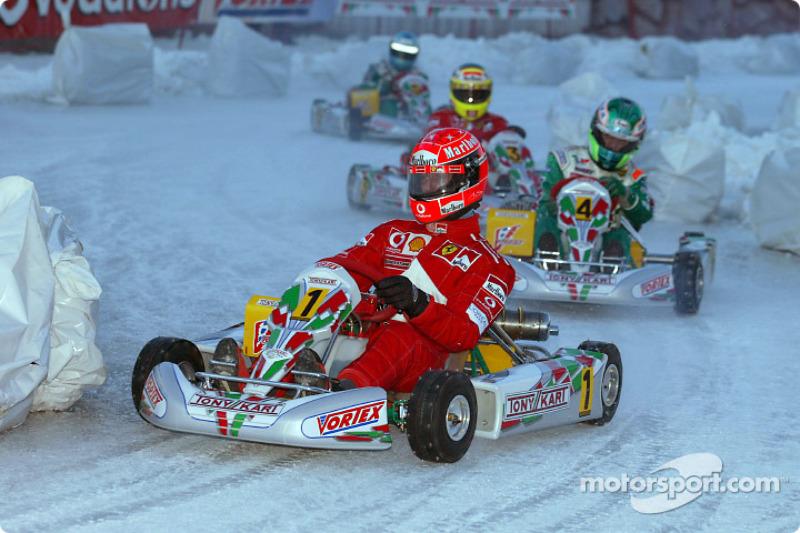 Carrera de karts en el hielo: Michael Schumacher