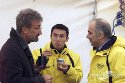 Eddie Jordan y Takuma Sato