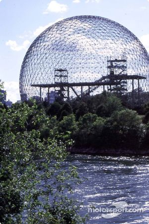 Buckminster Fuller's geodesic dome on Ste-Hélène Island
