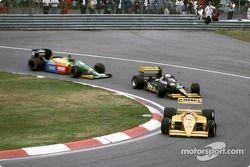 Nelson Piquet, Luis Pérez-Sala y Thierry Boutsen