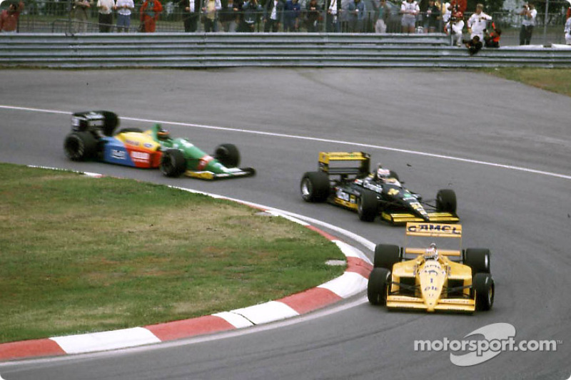 Nelson Piquet, Luis Perez-Sala eThierry Boutsen