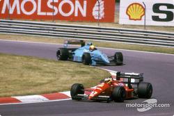 Michele Alboreto, Ferrari F1-87/88C; Mauricio Gugelmin, March 881