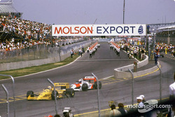 Avant le départ : Nelson Piquet et Alain Prost