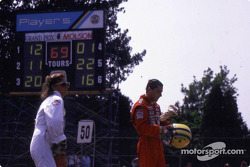 Nach dem Rennen: Ayrton Senna