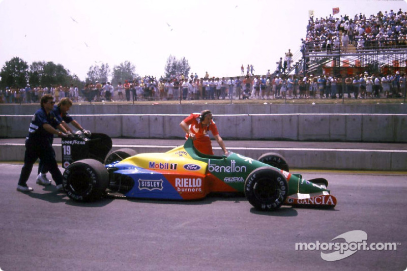 After the race: Benetton