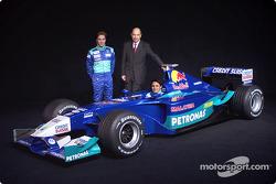 Peter Sauber, Nick Heidfeld en Felipe Massa presenteren de nieuwe Sauber Petronas C21