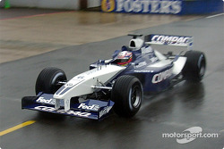 Juan Pablo Montoya testing the new 2002 WilliamsF1 BMW FW24