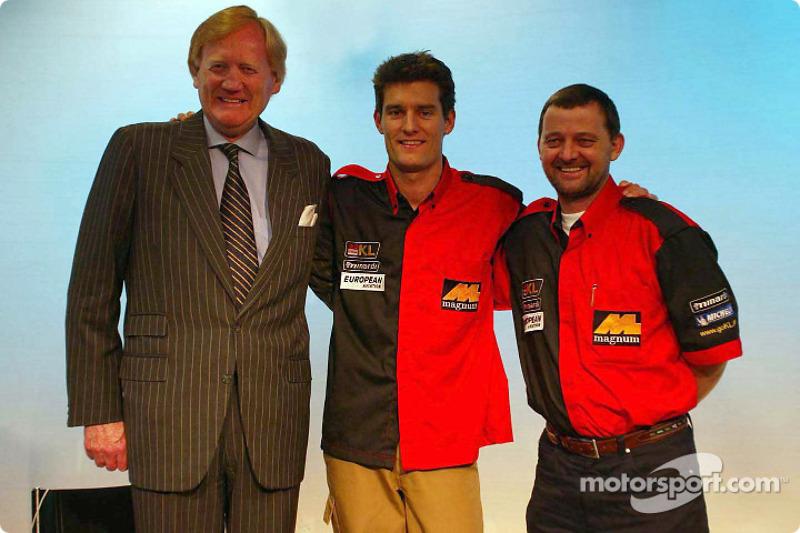 Mark Webber presentado por Paul Stoddart