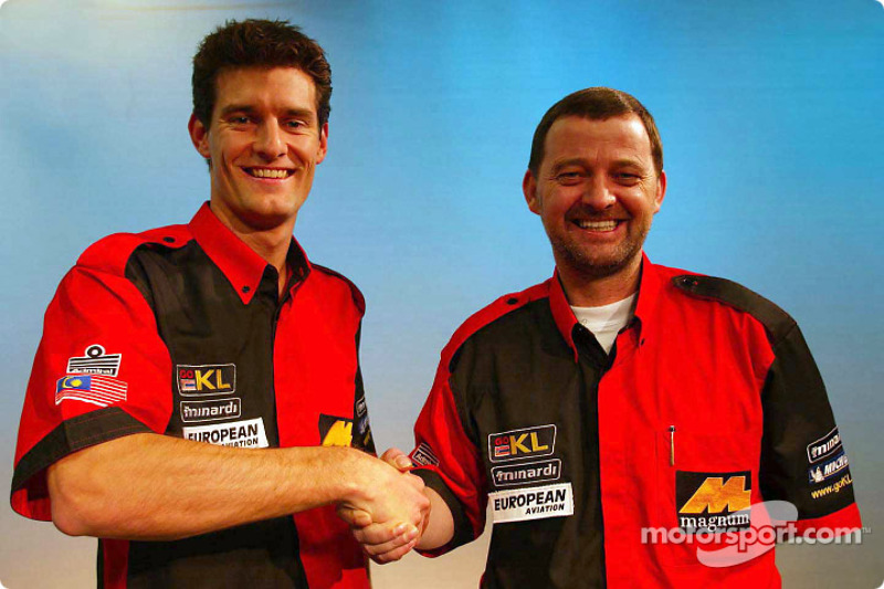 Mark Webber y Paul Stoddart