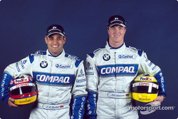 Juan Pablo Montoya and Ralf Schumacher