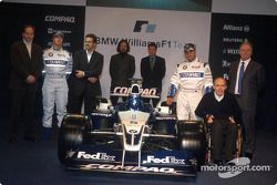 Gerhard Berger, Ralf Schumacher, Dr. Mario Theissen, Gavin Fisher, Sam Michael, Juan Pablo Montoya, Frank Williams y Patrick Head