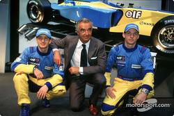 Jarno Trulli, Flavio Briatore y Jenson Button