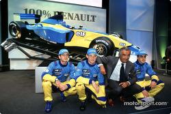 Jarno Trulli, Jenson Button, Flavio Briatore y Fernando Alonso
