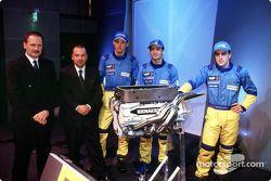 Jean-Jacques His, Mike Gascoyne, Jenson Button, Jarno Trulli et Fernando Alonso