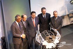 Flavio Briatore, Christian Contzen, Patrick Faure, Jean-Jacques His et Mike Gascoyne