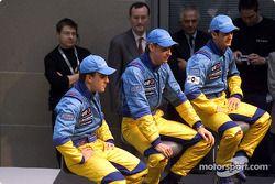 Fernando Alonso, Jenson Button et Jarno Trulli