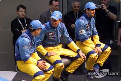 Fernando Alonso, Jenson Button y Jarno Trulli