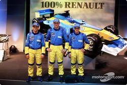 Jarno Trulli, Jenson Button y Fernando Alonso