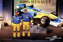 Jarno Trulli und Jenson Button mit dem Renault R202
