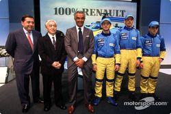 Patrick Faure, Flavio Briatore, Jarno Trulli, Jenson Button et Fernando Alonso