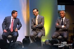 Patrick Faure, Louis Schweitzer y Flavio Briatore