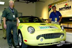 Grand America President Roger Edmondson and Ford Division Racing Marketing manager Sam Scott announc