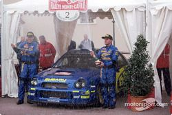 Tommi Makinen at the finish line