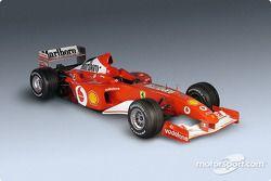 Ferrari F2002: vista di tre quarti alla presentazione
