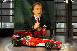Luca di Montezemelo, Michael Schumacher y Rubens Barrichello