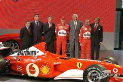 Jean Todt, Paolo Cantarella, Piero Lardi Ferrari, Michael Schumacher, Paolo Fresco, Rubens Barrichel