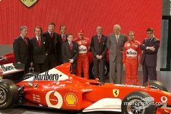Piero Lardi Ferrari, Luca di Montezemolo, Ross Brawn, Paolo Martinelli, Jean Todt, Michael Schumache