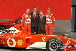 Rubens Barrichello, Luca di Montezemelo, Jean Todt y Michael Schumacher