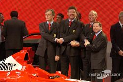 Paolo Martinelli, Ross Brawn, Rory Byrne y Jean Todt