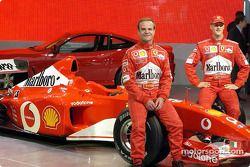 Rubens Barrichello et Michael Schumacher