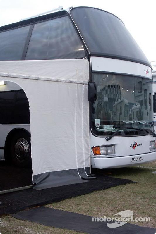 Team Ascari double-decker coach