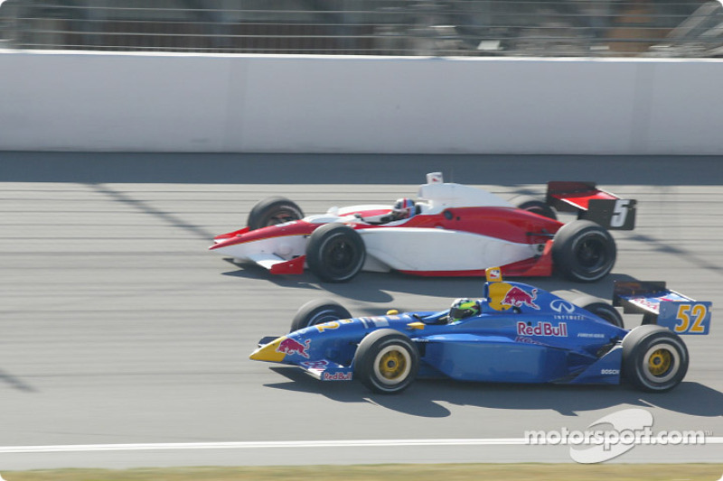 Arie Luyendyk et Tomas Scheckter