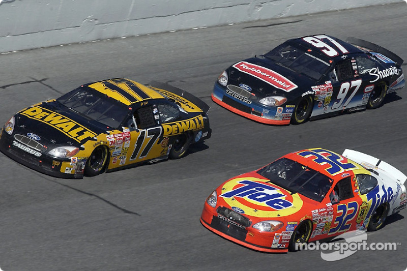 Matt Kenseth, Ricky Craven and Kurt Busch