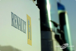 Renault F1 truck in the paddock