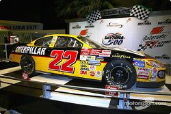 A day after winning the 44th annual Daytona 500, Ward Burton gave up his No. 22 Caterpillar Dodge to Daytona USA, the official motorsports attraction of NASCAR