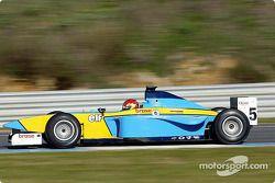 Tiago Monteiro testing the Renault Junior Team Super Nova Lola B2/50