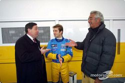 Patrick Faure, Jarno Trulli y Flavio Briatore