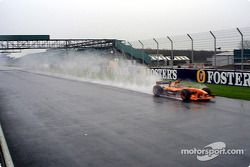 Heinz-Harald Frentzen under the rain