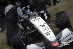 Kimi Raikkonen en los pits