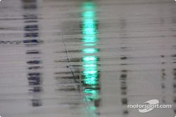 Reflections on a damp track
