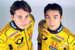 Giancarlo Fisichella y Takuma Sato